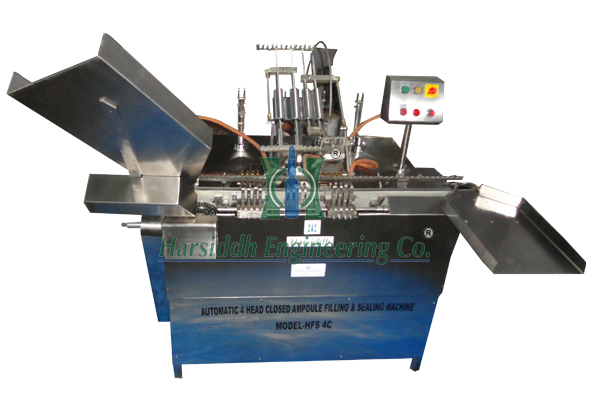Four Head Closed Ampoule Filling and Sealing Machine