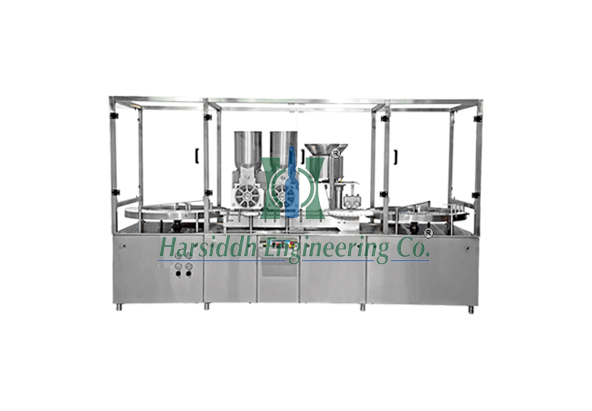Injectable Dry Powder Filling Machine with Vial Rubber Stoppering (Double Wheel)