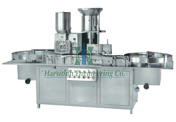 Injectable Dry Powder Vial Filling With Rubber Stoppering Machine (Single Wheel)
