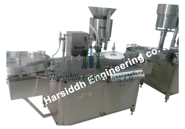 Liquid Vial Filling Machine With Rubber Stoppering